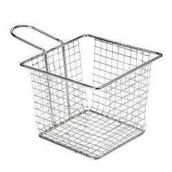 Koszyk na smażone przekąski, prostokątny,  z stali nierdzewnej - 1szt, T5420
