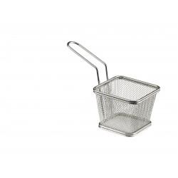 Koszyk na smażone przekąski, kwadratowy,  z stali nierdzewnej - 1szt, T5422