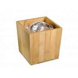koszyk, pojemniczek, na przyprawy, z drewna bambusowego - 1szt, S0078