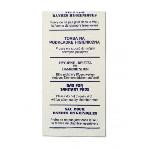 Hygienebeutel aus Folie weiß für Binden Tampons Hotel Toilette