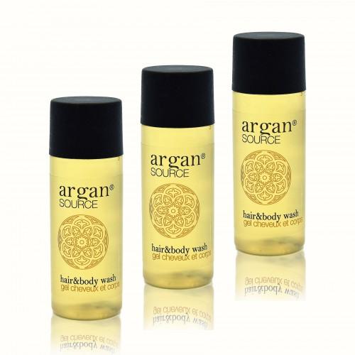 Kosmetyki hotelowe    Szampon i żel, hotelowy, Argan 30ml 450szt