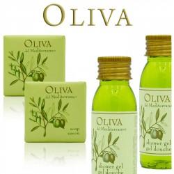 Zestaw Kosmetyków dla Hoteli Oliva żel 30ml 100szt + mydło 20g 100szt