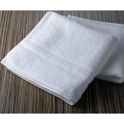 Białe ręczniki hotelowe Rodos 100% bawełna 450 g/m2 , 2 paski