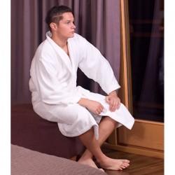 Szlafrok hotelowy biały Sapporo 100% bawełna frotte 360g/m2