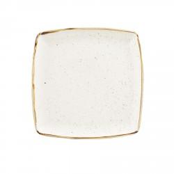 Talerz porcelanowy kwadratowy 31 cm Evolve STONECAST BARLEY WHITE