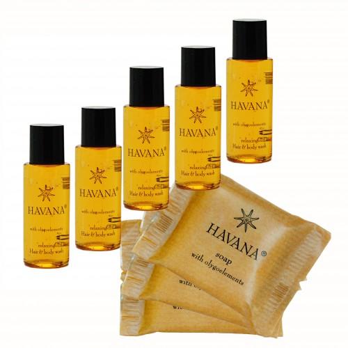 Zestaw Kosmetyczny dla Hoteli Havana szampon-żel 30ml 100szt +