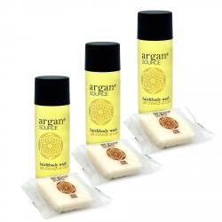 Zestaw kosmetyków dla hoteli Argan szampon-żel 30ml 100szt +
