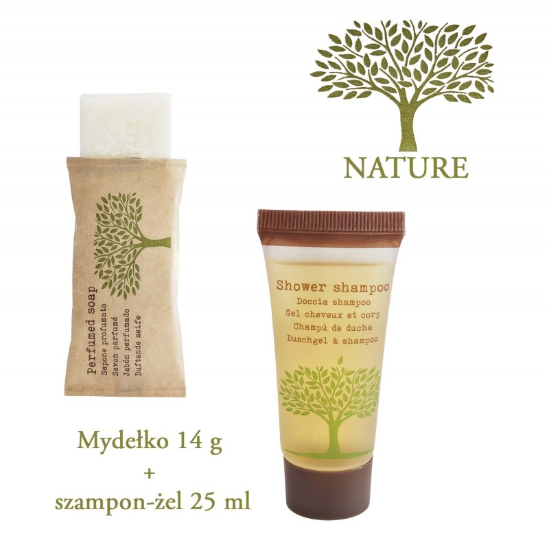 Nature |  Hotel Kosmetik Set Nature Shampoo und Duschgel 2 in1