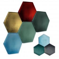 Panel ścienny 3D Hexagon tapicerowany, do własnego montażu