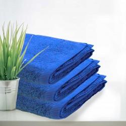 Zestaw czterech niebieskich ręczników - Hotelowe Rimini 100% bawełna 500 g/m2