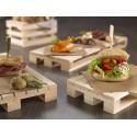 Essensständer aus Holz